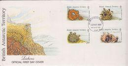 British Antarctic Territory (BAT) 1989 Lichens 4v FDC (BA152) - FDC