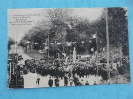 17 : SAINT-PORCHAIRE : INNAUGURATION Du MONUMENT élevé à La MEMOIRE Des ENFANTS , Animée, C.P.A.,en Bon état - Inaugurazioni