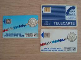 LOT DE 3 CARTES TELEPHONIQUES  TELECARTE - Schede Telefoniche