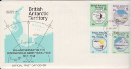British Antarctic Territory (BAT) 1987 IGY 4v FDC (BA153) - FDC