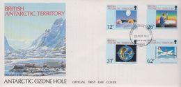 British Antarctic Territory (BAT) 1991 Antarctic Ozone Hole 4v FDC (BA154) - FDC