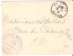 Savoie :- CHAMBERY HOPITAL MILITAIRE ANNEXE JULES FERRY - Marcophilie (Lettres)