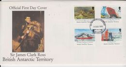 British Antarctic Territory (BAT) 1991 Maiden Voyage Of RRS James Clark Ross  4v FDC (BA155) - FDC