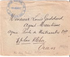 Savoie :- CHAMBERY HOPITAL AUXILLIAIRE 103 Sur Enveloppe Réclame De L'ANTESIT - Marcophilie (Lettres)