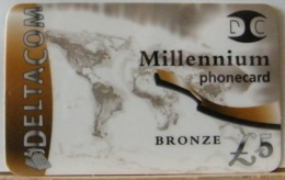 PR95 - DELTACOM - MILLENIUM PHONECARD - BRONZE - 5 STERLINE - DELTACOM .- N° A611657 - Royaume-Uni