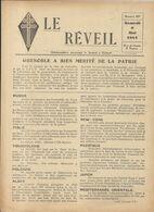 GUERRE 39/45 . LE REVEIL .RESISTANCE A DJIBOUTI .6 PAGES Sans Supplement - Documents Historiques