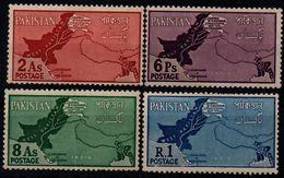 Pakistan 1960, Scott 108-111, MNH (100 Bent), Map - Pakistan