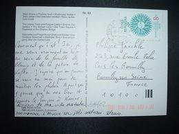 CP Pour La FRANCE TP SVETOVA ORGANIZACE CESTOVNIHO RUCHU 8 Kc OBL.9-1 96 PRAHA 1 - Lettres & Documents