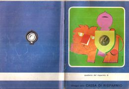CASSA DI RISPARMIO  Quaderno Vintage RIGHE CON MARGINE  USATO - Other Collections