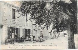 33 CABANAC - VILLAGRAINS - Boulangerie, Epicerie - Coin De La Place De L'église - Animée - Other Municipalities