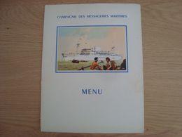 MENU DE LA COMPAGNIE DES MESSAGERIES MARITIMES  PAQUEBOT MARECHAL JOFFRE 14 JUILLET 1953 - Menu
