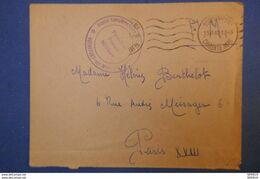 383 FRANCE LETTRE 1940 RARE FRANCHISE POSTALE MILITAIRE ROCHEFORT A PARIS R A MESSAGER - France
