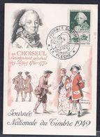 Carte Federale Choiseul Journee Du Timbre 1949 La Fleche - 1940-49