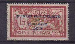 FRANCE :  N° 182 . TYPE MERSON . GOMME ALTEREE .  SIGNE . 1923 . ( CATALOGUE YVERT ) . - Marcophilie (Timbres Détachés)