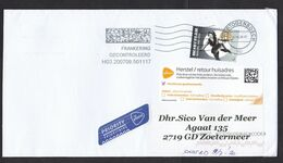 Netherlands: Cover, 2020, 1 Stamp, Olympic Committee, Ice Skating, Cancel Postage Control, Label Rerouted (traces Of Use - Periodo 2013-... (Willem-Alexander)