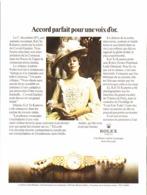 """PUB MONTRE   """" ROLEX  """"  1980 ( 1 ) - Bijoux & Horlogerie"""