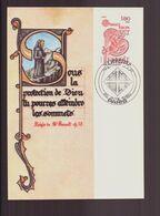 """France, Carte Maximum Du 26 Avril 1980 à Paris """" Europa , Saint-Benoit Patron De L'Europe """" - 1980-89"""