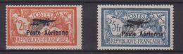 FRANCE :  PA . N° 1 , N° 2 * . TYPE MERSON . B.  SIGNES . 1927 . ( CATALOGUE YVERT ) . - Marcophilie (Timbres Détachés)