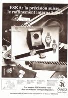 "PUB MONTRES "" "" ESKA  "" 1980 - Bijoux & Horlogerie"