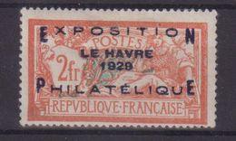 FRANCE : N° 257 A . TYPE MERSON . GOMME ALTEREE .  SIGNE . 1929 . ( CATALOGUE YVERT ) . - Marcophilie (Timbres Détachés)