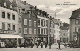 Remich  Place Du Marché Bien Animée Oldtimer Charette Circulé En 1913 - Remich