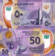 MAURITANIA, 50 OUGUIYA 2017 (2018),  P22, UNC, Polymer, New Design - Mauritania