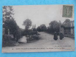 79 :SAINT-HILAIRE-la-PALLUD : Les MARAIS , LE PORT Du PAIRE , Cachet Convoyeur ,animée , C.P.A..,en Bon état - Other Municipalities