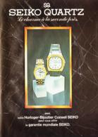 """PUB MONTRES """" """" SEIKO QUARTZ  """" 1980 - Bijoux & Horlogerie"""