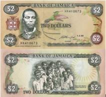 JAMAICA, 2 DOLLARES, 1993, P78, UNC - Giamaica