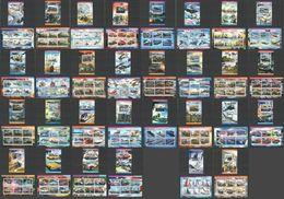 PE 2015 TRANSPORT MILITARY WAR SHIPS AVIATION CARS TRAINS 30KB+30BL MNH - Militaria
