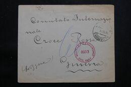 ITALIE - Enveloppe De Altamura Pour La Croix Rouge En Suisse En 1944 Avec Contrôles Postaux - L 65023 - Marcofilía