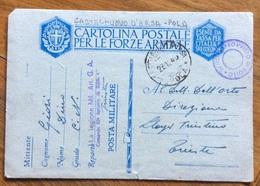 CASTELNUOVO D'ARSA * POLA * 23/12/40 - ANNULLO SU CARTOLINA POSTALE FF.AA.31 LEGIONE MIL.ART.G.A.52 BATTERIA - Trieste