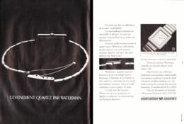 "PUB MONTRES "" "" WATERMAN  "" 1980 - Bijoux & Horlogerie"