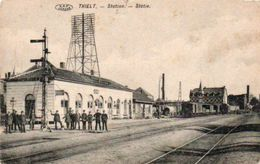 Thielt  Station Animée  N'a Pas Circulé - Tielt