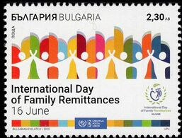 Bulgaria - 2020 -  UPU Joint Issue - Intl Day Of Family Remittances - Mint Stamp - Bulgaria