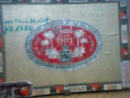 BOITE CIGARETTES SAND AUFS GERZ 1980 - Boites à Tabac Vides