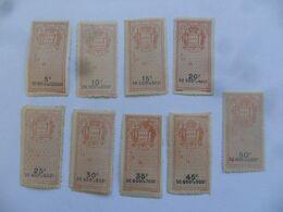"""(MONACO Timbres Taxe, Fiscaux ??) -  Lot  9 Vignettes """" A....Le.....18 """" (valeurs Différentes)......voir Scans - ...-1885 Prephilately"""