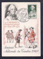 Carte Federale Choiseul Journee Du Timbre 1949 Beaune - 1940-49