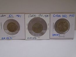 """Cuba, 0.05, 0.10, 0.25 Centavos 1981, """" INTUR """", UNC, MINT. Gracias Por Visitar Mi Pagina. - Cuba"""