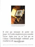 """PUB MONTRES  """" JAEGER-LECOULTRE  """"    1980  ( 3  ) - Bijoux & Horlogerie"""