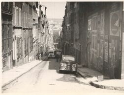 Photo France Marseille Rue Curiol Street Scene Car 1950s - Lieux