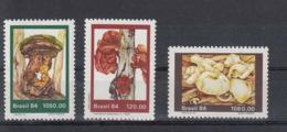 Brasilien Michel Cat.No. Mnh/** 2072/2074 Mushroom - Unused Stamps