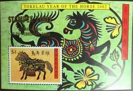 Tokelau 2002 Year Of The Horse Stampex Minisheet MNH - Tokelau