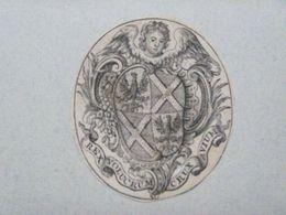 Ex-libris Héraldique Illustré XVIIIème - BELGIQUE - ARENTS (chanoine) - Ex Libris