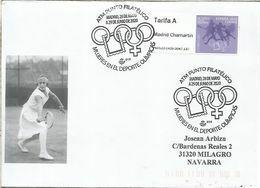 MADRID ATM PUNTO FILATELICO MUJERES OLIMPICAS DEPORTE OLYMPIC WOMEN TENNIS SKI - 2011-... Briefe U. Dokumente