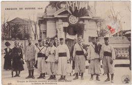 Militaria : Groupe De Blessés Zouaves Et Turcos Venue Saluer La Statue De Strasbourg ( Guerre 1914-1918 ) - Guerre 1914-18