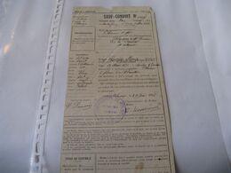 RARE SAUF CONDUIT VOYAGE EN CHEMIN DE FER ALENCON ORNE 1918 POUR UNE CUISINIERE Tampon GUERRE 14-18 - Titres De Transport