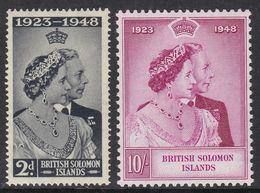 British Solomon Islands (1948 KG-VI SG#48-49 Silver Wedding) MNH SuperB Cat.Val. £ 18.30 - British Solomon Islands (...-1978)