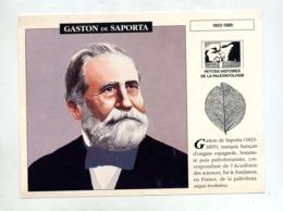 Fiche Gaston De Saporta - Fichas Didácticas