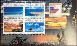 Tokelau 2006 Landscapes Washington Stamp Exhibition Minisheet MNH - Tokelau